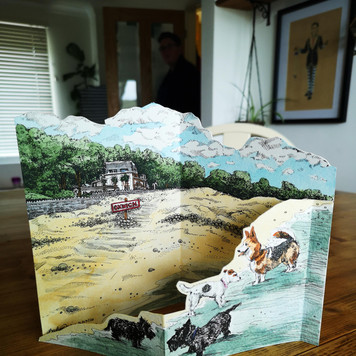 3D Oxwich Bay Greeting Card