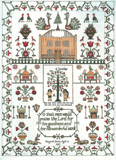 Private Commission - Margaret Davies' Emboidery, Aged 12