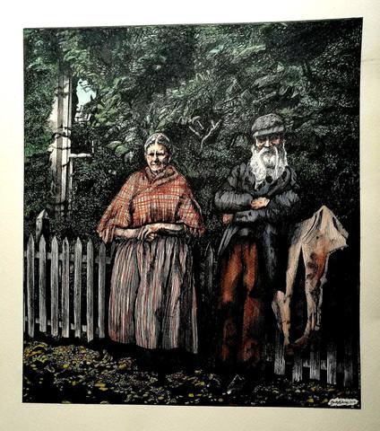 Private Commission - Anne + David Thomas, Brechfa, c.1900