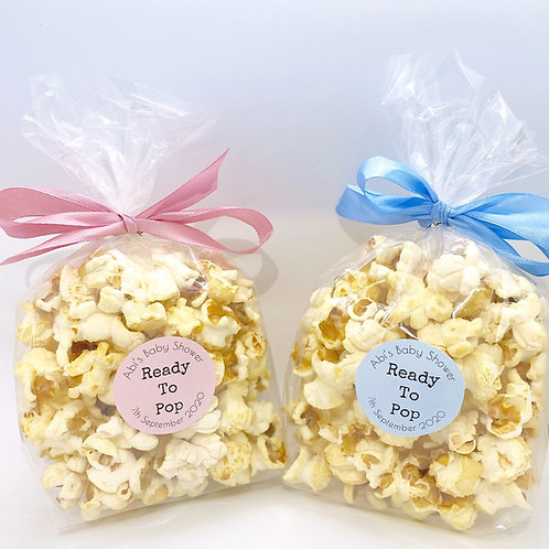 """""""Ready To Pop"""" Baby Shower Favours"""