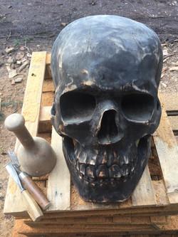 skull, black