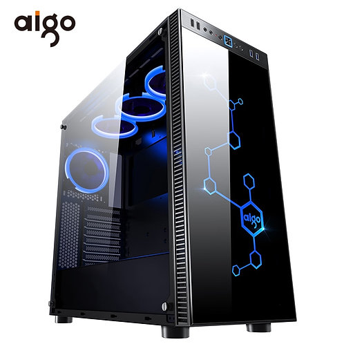 Aigo Desktop Computer Gaming Case Mid-Tower ATX Gaming