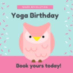 kids yoga birthday party