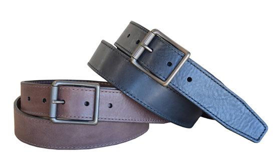 Strike Eagle Shrunken Grain Steerhide Casual Leather Belt