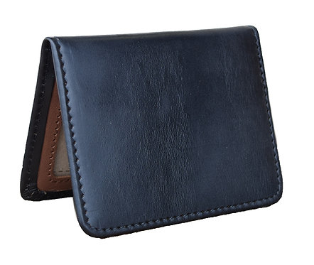 Horween Leather Black Bi-Fold Wallet