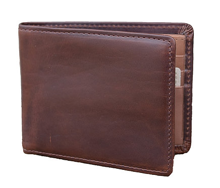 Horween Leather Brown Flat Fold Wallet