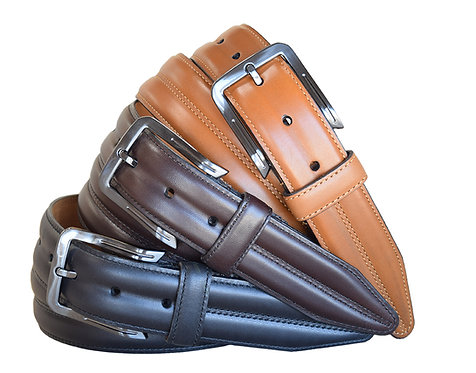 Center Club Black, Brown and Cognac Belts