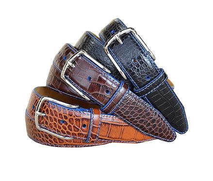 Anzio Black, Brown and Cognac Belts