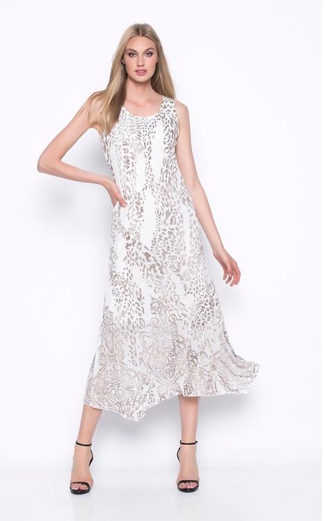 Sleeveless Midi Dress with Handkerchief Hem