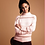 Thumbnail: Pink Striped Cozy Sweater