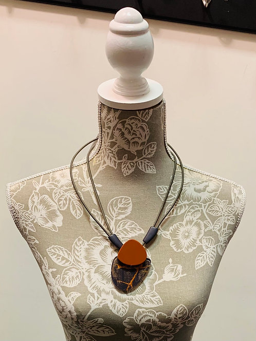 Rust and Multi Necklace