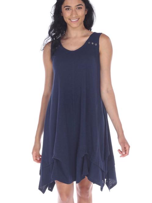 Navy Lightweight Cotton Dress