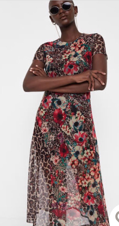 Midi Dress in Floral Print