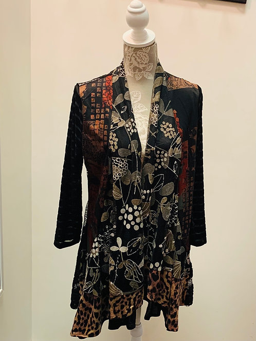 copy of Red and Black Patterned Cardigan