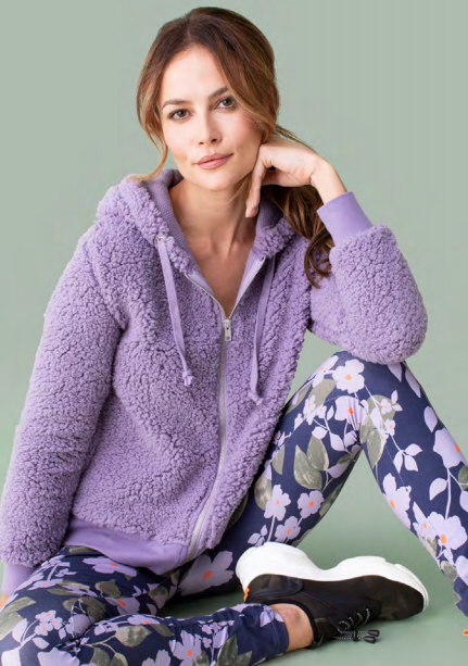 Fuzzy Lavender Hooded Sweater