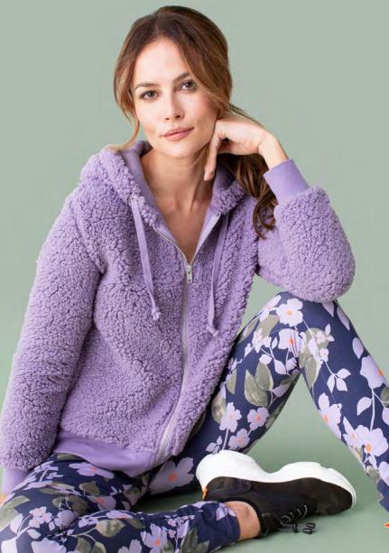 Teddy Bear Lavender Hooded Sweater