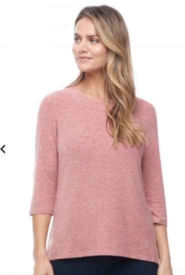 3/4 Sleeve Scoop Neck Shirt