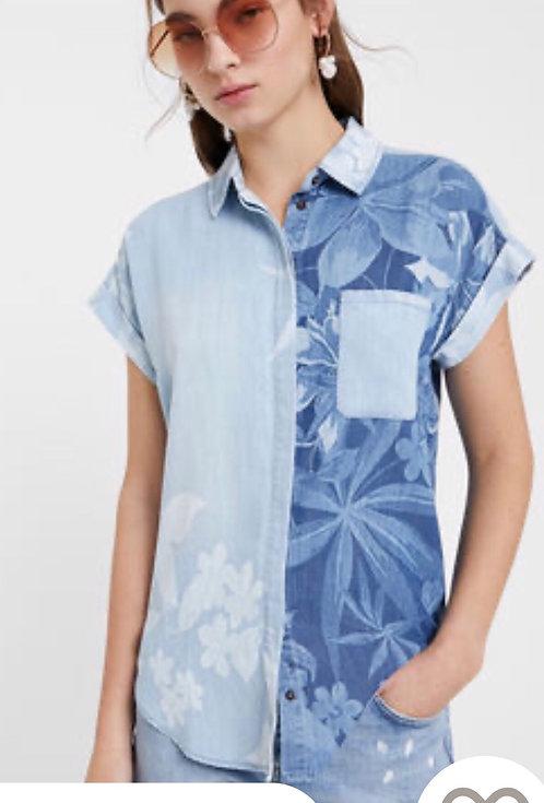 Hawaiian Tencel Denim Shirt