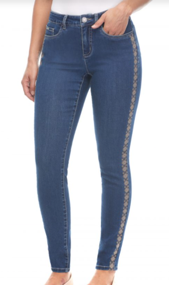 Embellished Side Jeans