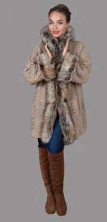 Faux Fur and Faux Suede Coat