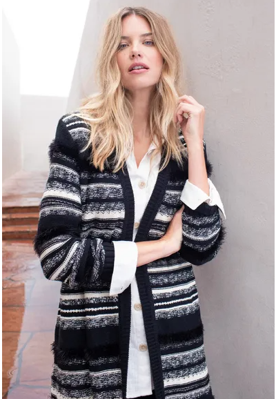 Long Cardigan with side pockets