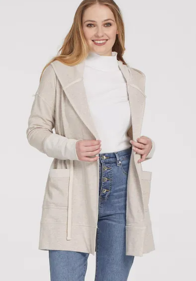 Latte Drawstring Jacket Cardigan