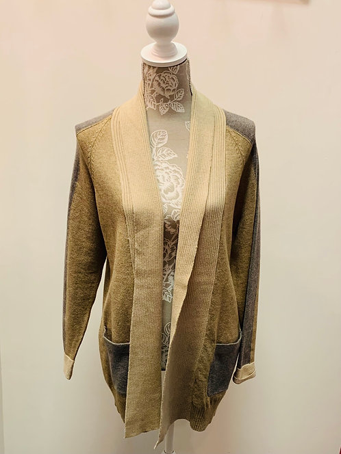 Beige Cardigan Sweater with Pockets