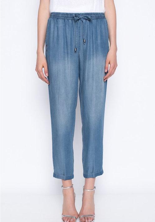 Lightweight Chambray Drawstring Pants