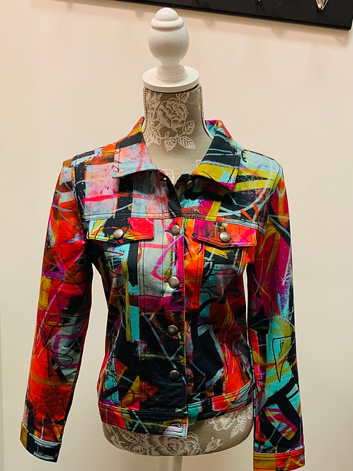 Colourful Art Print Jacket