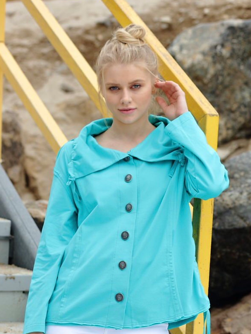 Jade Coloured Jacket with High Collar