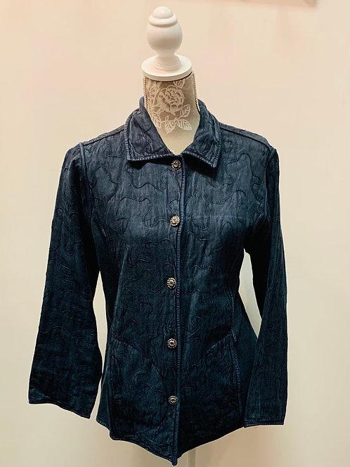Blue Embroidered Jacket