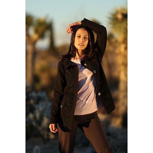 Black Fresh Air Jacket Top