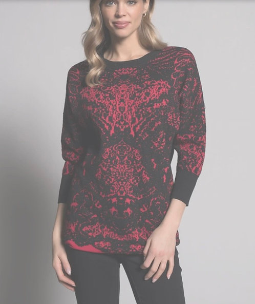 Red and Black Pattern Shirt