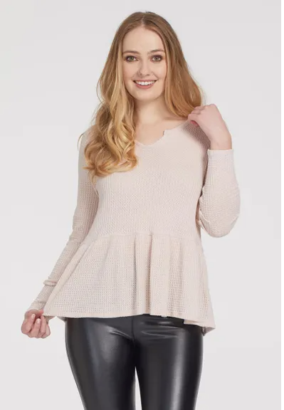 Thin Light Pink Flared BottomTop