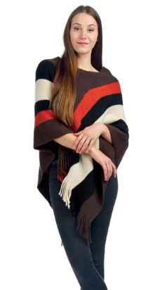 Brown & Orange Poncho
