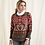 Thumbnail: Red & Taupe Pattern Sweater