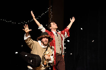 Tyler Herman and Jack Dwyer in Taming of the Shrew