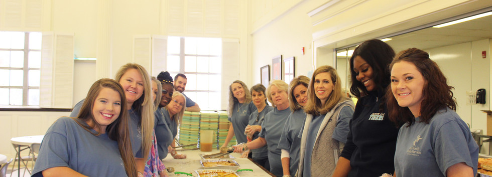 Many of our ESC team members serving food at Stewpot in Jackson, MS.