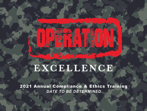 POSTPONED: Compliance 2021 Operation Excellence