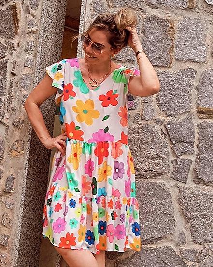 Vestido Vejo Flores ( adulto)
