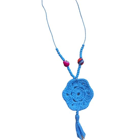 Colar Mandala Crochet