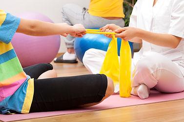 Sesión de fisioterapia