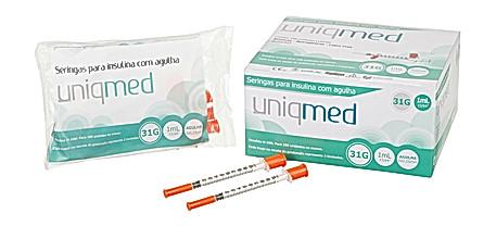 Seringas para Insulina Uniqmed
