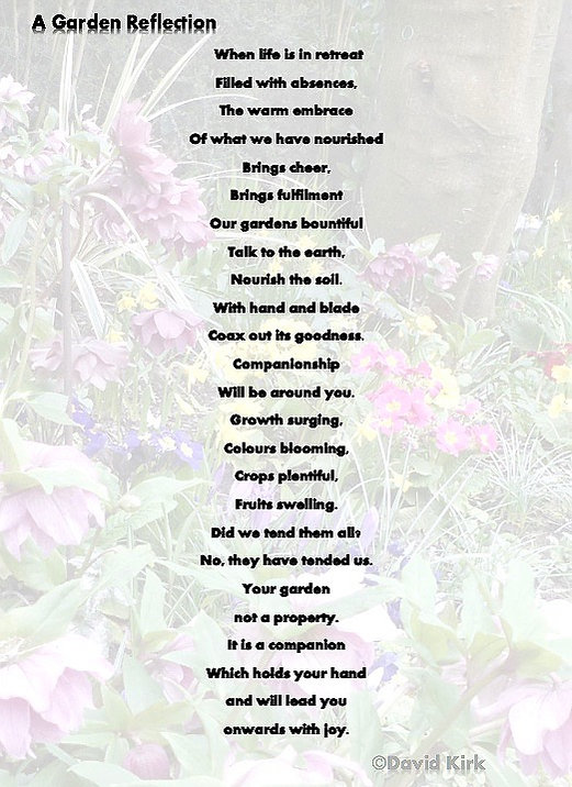 Poem aboutthe joys of a garden