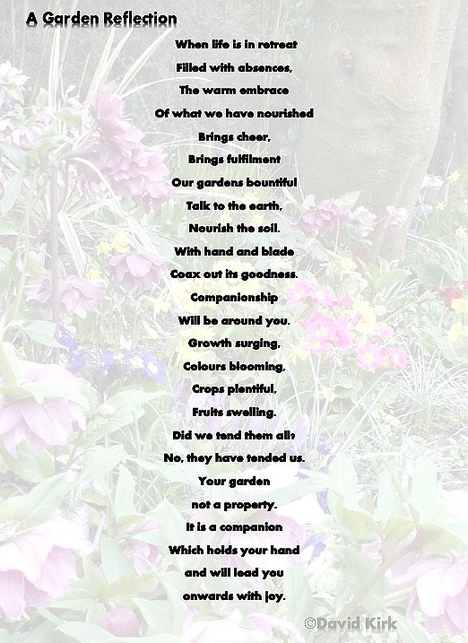 Poem aboutthe joys of a garden