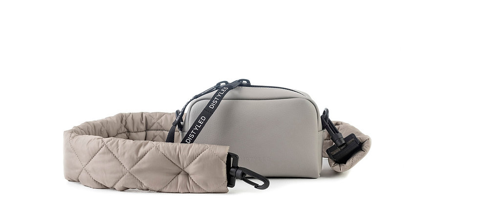 Eco camera bag, small / quilted strap