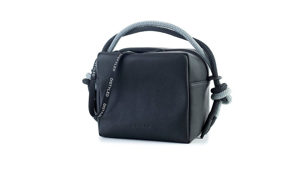 Box bag, big / short double rope black Distyled