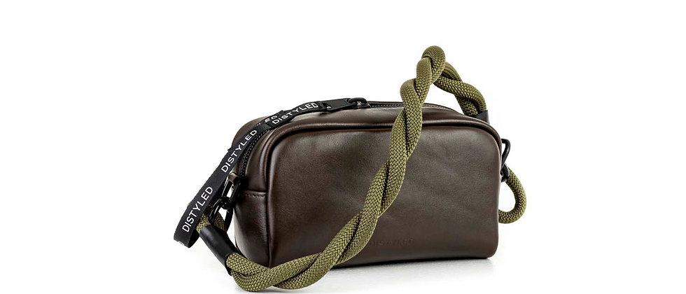 Leather Camera bag, medium/ twisted strap