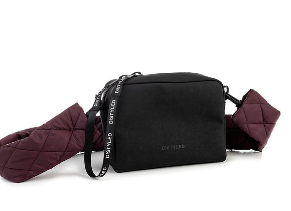 Eco camera bag, big/ quilted strap