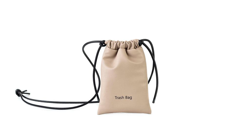 Mini trash bag taupe beige Distyled